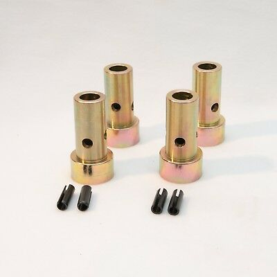 2 PAIR! Cat 2 Quick Hitch Adapter Bushings Category II 3-pt Tractor, Bushing Set