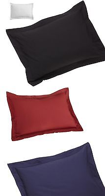 SOLID PILLOW SHAM PAIR (2-PCs) 650 TC COTTON ALL SIZE IN FOUR COLORS FREE SHIP