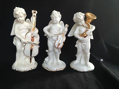 Antique German Porcelain. Trio of musicians with old marks