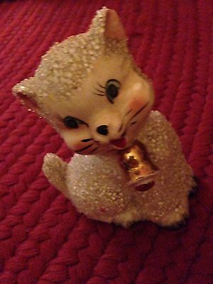 Vintage kitten with bell, made in Japan