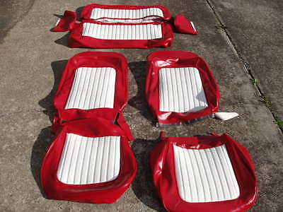 Early Ford Bronco New Upholstery Front And Rear Seats Red