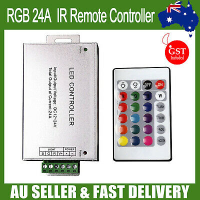 12V 12A 144W IR controller for RGB LED Light Lighting Strip AU DC