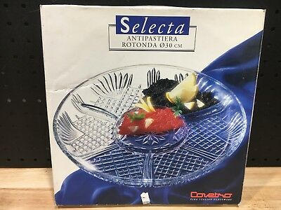 Selecta Antipastaiera Glass Dish Covetro Fine Italian Glassware
