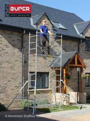 Super eDIY 5M++ 4 Outriggers and Stiffeners Aluminium Scaffold Tower/Towers