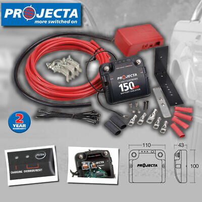 Projecta Dbc150K 150 Amp Car Electronic Dual Battery Isolator Charger System Kit