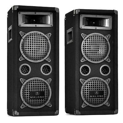 """3-Way Dj Disco Pa Speakers 1600W Two 8"""" Bass Drivers *free P&p Special Offer"""