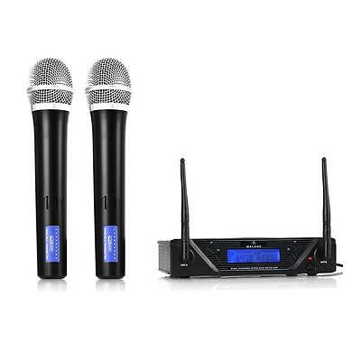 Uhf Wireless Microphone Set Handheld Mics Dj Pa Karaoke *free P&p Special Offer