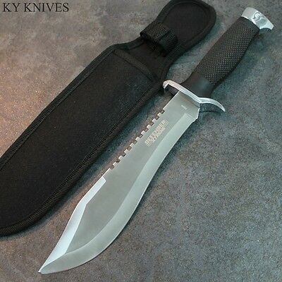 "13"" Military Style Hunting Knife, Defender Xtreme With Sheath Stainless 7596 zix"