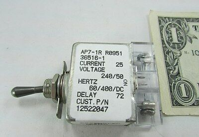 Sensata 25A Fully Sealed Aircraft Circuit Breaker Toggle Switches AP7-1R-36516-1