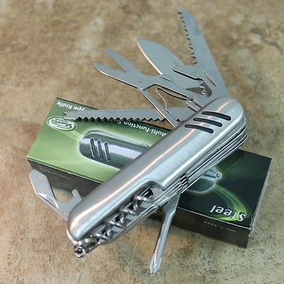 """3.5"""" 13 FUNCTION SWISS TYPE CAMPING/HUNTING POCKET KNIFE NEW 212833 zix"""