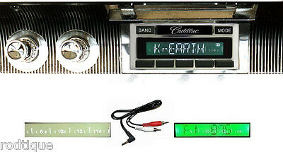 1961-1962 Cadillac Radio Custom Fit Stereo 230  NO Modifications Free Aux Cable