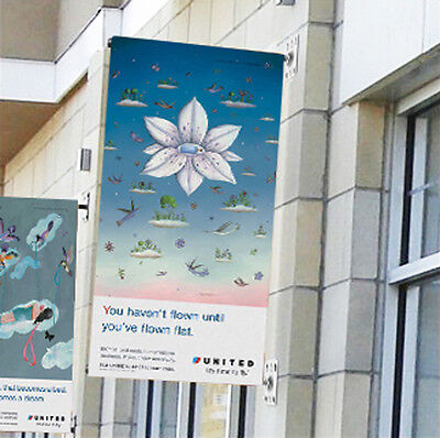 """Wall Mount Pole Banner Bracket 30"""" with 30"""" x 60"""" Banner Print"""