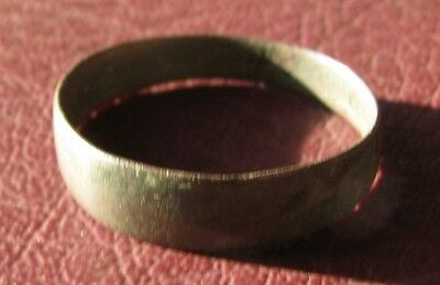 Authentic Antique to Ancient Bronze WEDDING BAND RING Sz: 8 1/4 US 18.25mm 11707