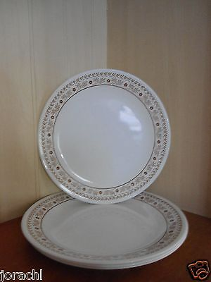 "CORELLE SUMMER IMPRESSIONS 10.25"" DINNER PLATES, SET OF 4, 1983, EXC"