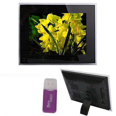 "15"" Digital Frame Photos Picture 1024*768 MP3 MP4 Player Black +16GB TF Card"