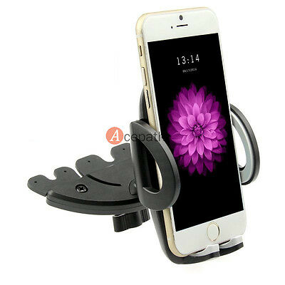 Car CD Dash Slot Mount Holder Dock For GPS iPhone 6 6 Plus Samsung Galaxy S5 S4
