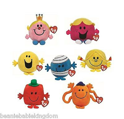 Ty Beanie Mr Men and Little Miss Beanies - Choose your Soft Plush Toy 5""