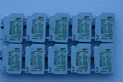 GENERAL ELECTRIC BCLF01 Aux Contact Block,1NC,Standard,Front Mtg( Lots of 10 )