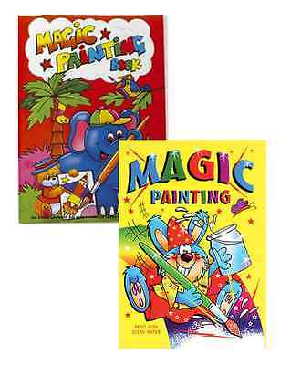 2 X A4 Magic Painting Colouring Art Books For Children No Mess Just Use Water