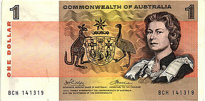 A Very Nice 1972 Australia $1.00 Bank Note - XF - #37d