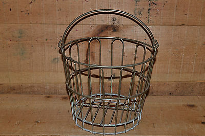 Small Childs Clam Oyster Wire Metal Basket Nautical Fishing Well Made Not Junk