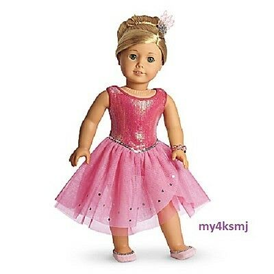 American Girl Isabelle's Pink SPARKLE DRESS OUTFIT Isabelle DOLL NOT INCLUDED