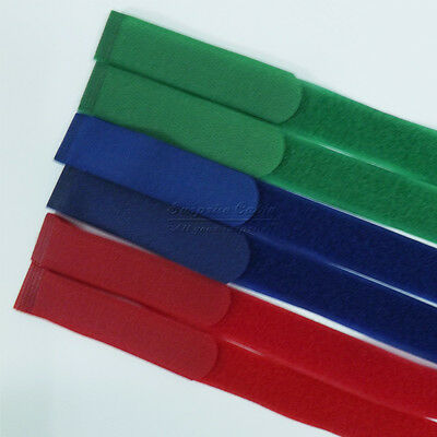 """2 pcs Green 1×21 """" Inches Velcro Straps With Buckle Luggage Banding Fast Zip"""