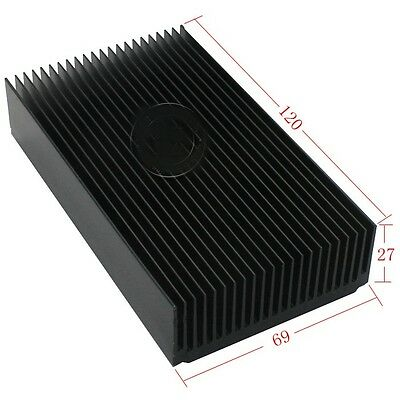 2pcs Aluminum heat sink module heat radiation of 69*27-120MM black oxide