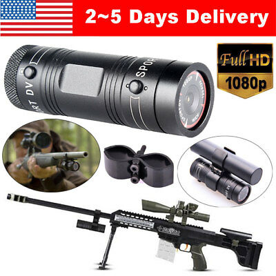 Professional Gun Camera 1080P Bike Sports DV Action Bullet Cam For Rifle Hunting