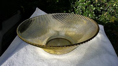 "Amber Diana 11"" Console Fruit Bowl"