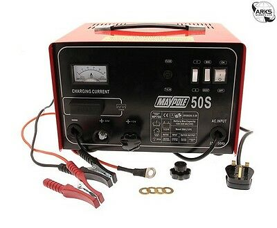 MAYPOLE Metal Battery Charger - 30A - 12V/24V - 750 |Next working day to UK