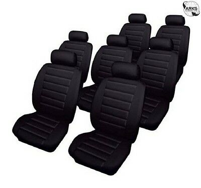 COSMOS Car Seat Covers Leatherlook - Set - Black - Toyota Previa (2000-2005) - 6