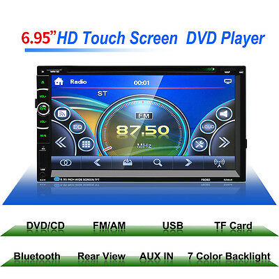 "7"" HD Bluetooth 2 DIN GPS Navigatore Car Autoradio MP5 FM Stereo Player USB SD"