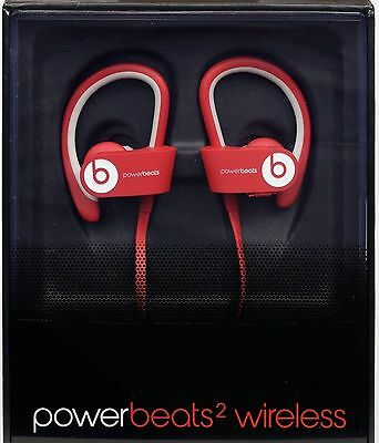 NEW Beats by Dr Dre Powerbeats 2 RED Bluetooth Wireless Headphones NEW COLOR!