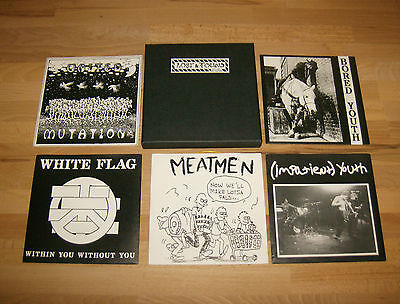 VARIOUS  Lost And Found BOX  White Flag Impatient Youth Meatmen Bored Youth PUNK