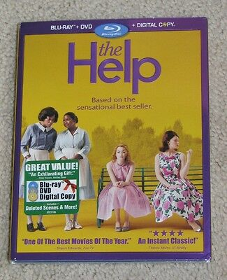 NEW The Help Blu-ray DVD and Digital Copy 3 Disc Set