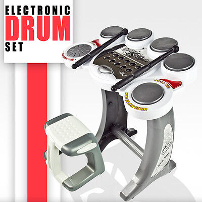 New Electronic Toy Set Digital Children's Training Drum Music Boys Kids Musical