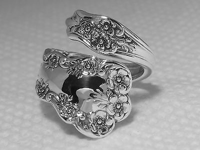 STERLING SILVER spoon ring BUTTERCUP by GORHAM (1899)