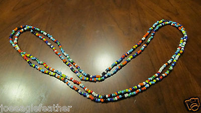 OLD COLUMBIA RIVER TRADE BEAD NECKLACE GLASS BEADS BEAUTIFUL COLORS