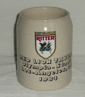 Red Lion Tavern Beer Stein Mug Dortmunder Ritter 1984 Los Angeles 0.5L