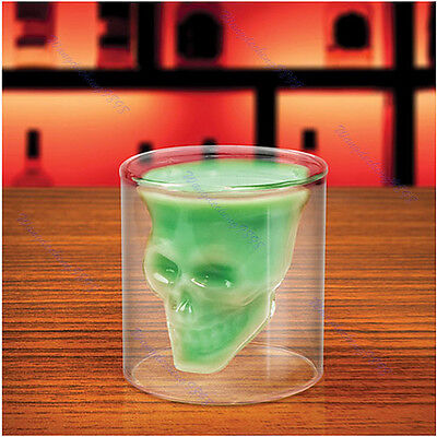 75ml Party Creative Crystal Skull Head Clear Shot Glass Vodka Wine Cup Mug Gift