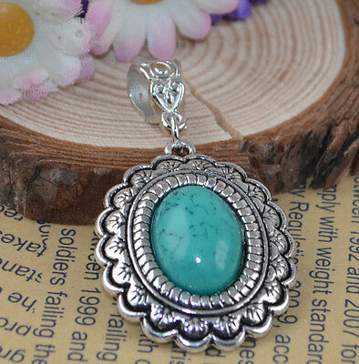 Fashion Jewelry Classical hot cute Turquoise tibet silver Pendants H-2303