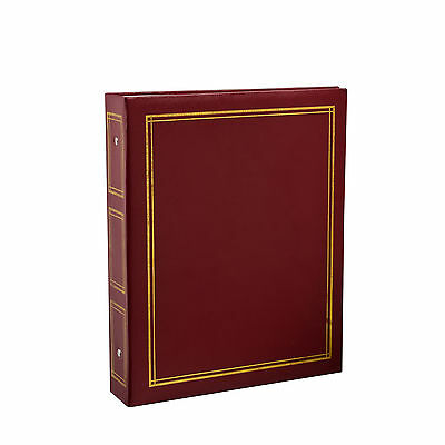Deluxe Large Self Adhesive Ring Binder Photo Album 40 Sheets/80 Sides -Red CL12