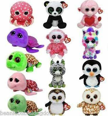 """Ty Beanie Boos Boo Large  Buddy - Choose Your 9"""" Inch Character Soft Plush Toy"""