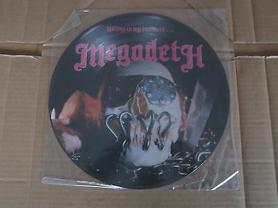 MEGADETH Killing Is My Business MUSIC FOR NATIONS LP RARE ORIGINAL PICTURE DISC