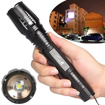 NEW  2000LM Zoomable CREE XM-L T6 LED Flashlight Torch Light 5-Mode