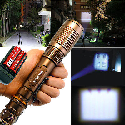 2000Lumen Zoomable CREE XM-L T6 LED Super bright 18650 Flashlight Torch From USA