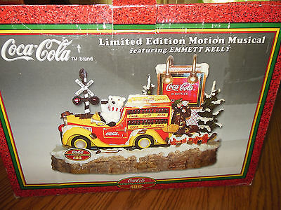 Coca-Cola limited edition motion musical Emmett Kelly Coke century collection