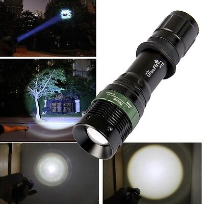 1800 Lumen Zoomable CREE XM-L T6 LED Flashlight Torch Zoom Lamp Light