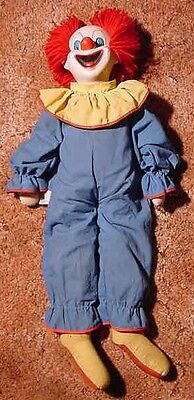Vintage Bozo The Clown by Eegee Larry Harmon Tush Tag on Side. Soft Hands.